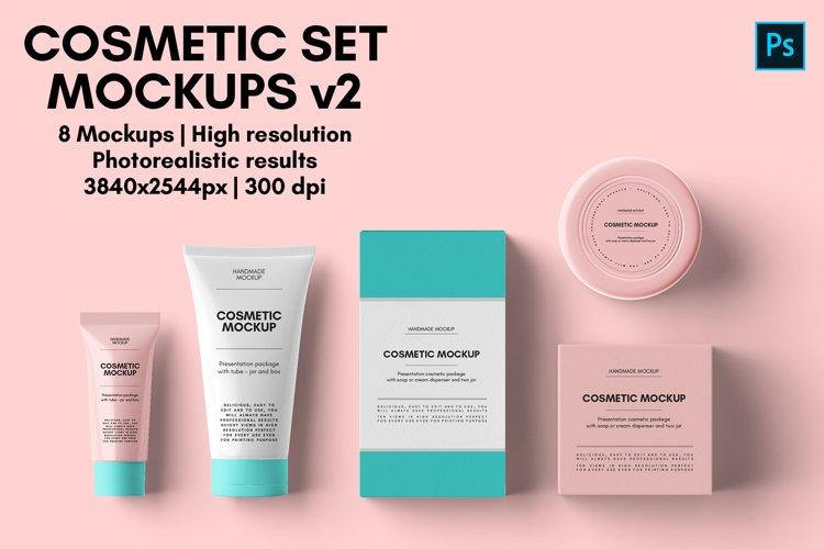 Cosmetic Set Mockups v2 - 8 views example image 1