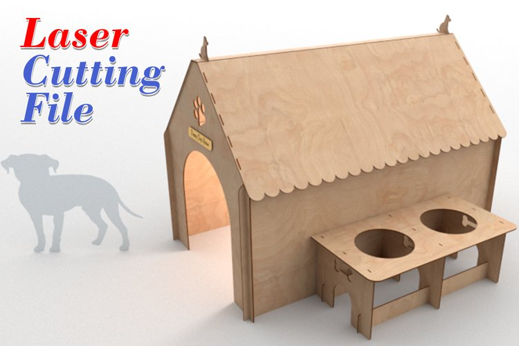 PUPPY HOUSE - laser cutting file example image 1