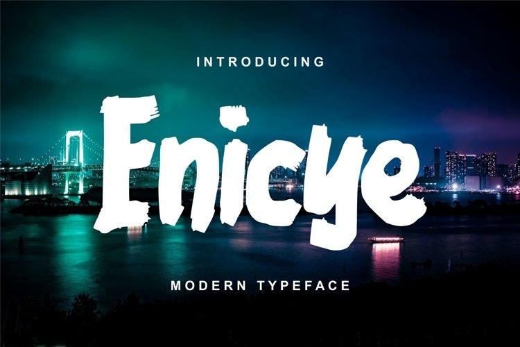 Enicye | Modern Typeface Font example image 1
