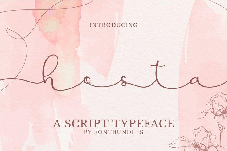 Web Font Hosta example image 1