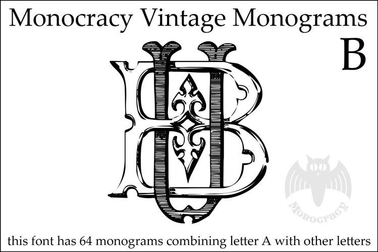 Monocracy Vintage Monograms B example image 1