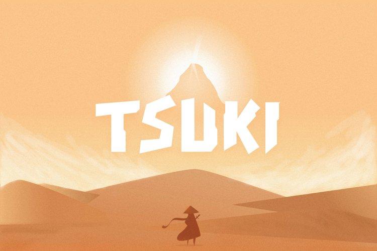 Tsuki Typeface example image 1