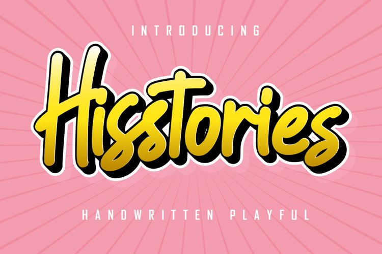 Hisstories - Handwritten Playful example image 1