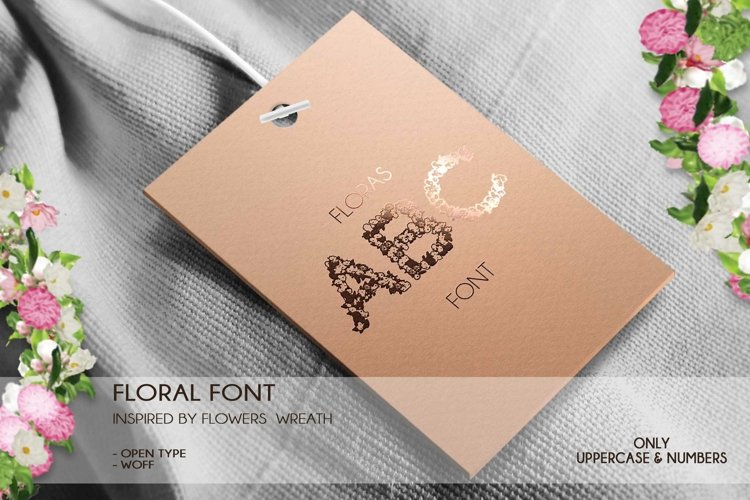 Floras - A Floral Font Open Type / Woff example 1