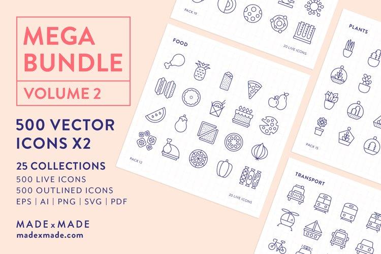 Line Icons  Mega Bundle Vol 2 example image 1