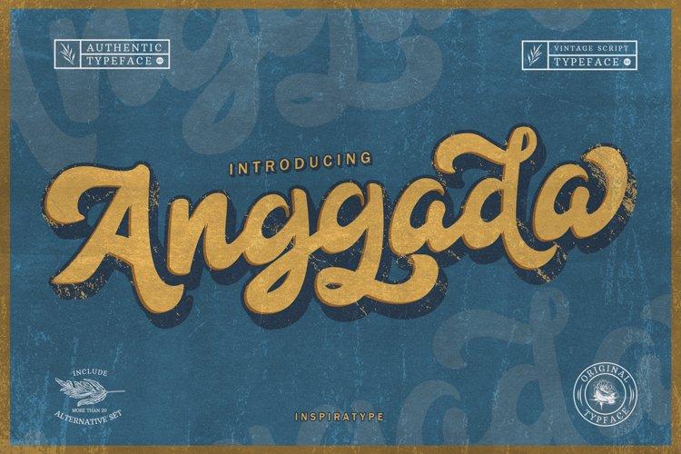 Anggada - Vintage Script Font example image 1