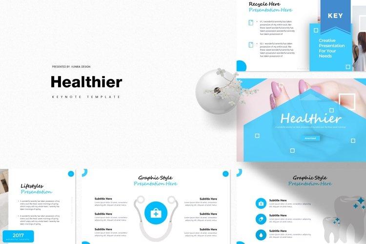 Healthier   Powerpoint, Keynote, Google Slides Template example image 1