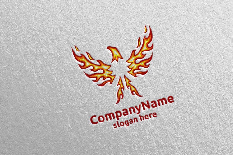 Eagle Logo Fire and Flame Concept 18 example image 1