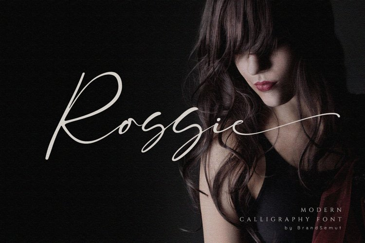 Rossie // Modern Script Font example image 1