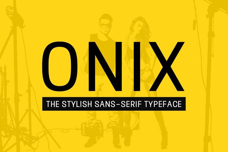 ONIX - Stylish Display Typeface example image 1