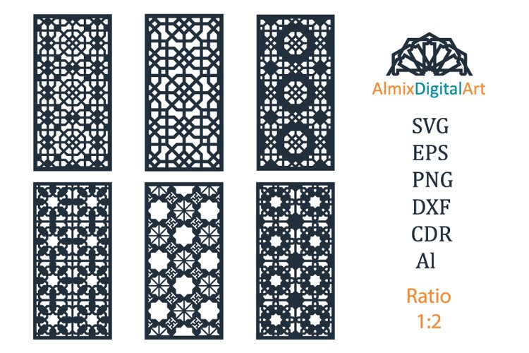 Decorative wall panels svg dxf.Cut out,cnc, vector template