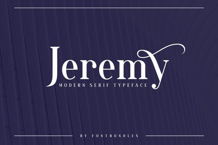 Web Font Jeremy example image 1
