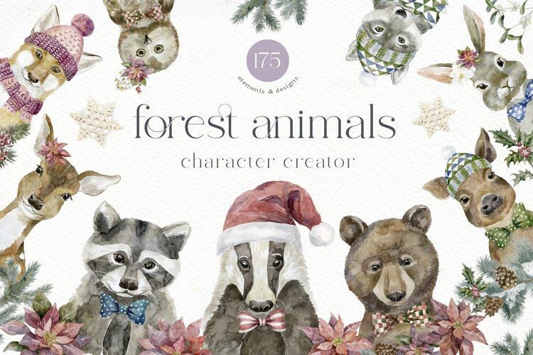 Forest Animals. Character Creator. example image 1