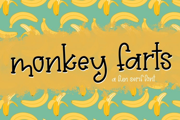 Monkey Farts a Playful Font example image 1