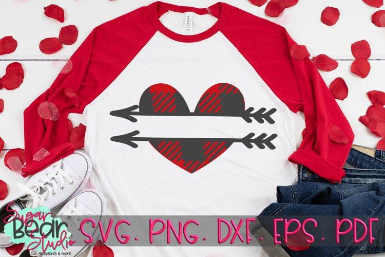 Plaid Monogram Heart - A Valentine SVG example image 1