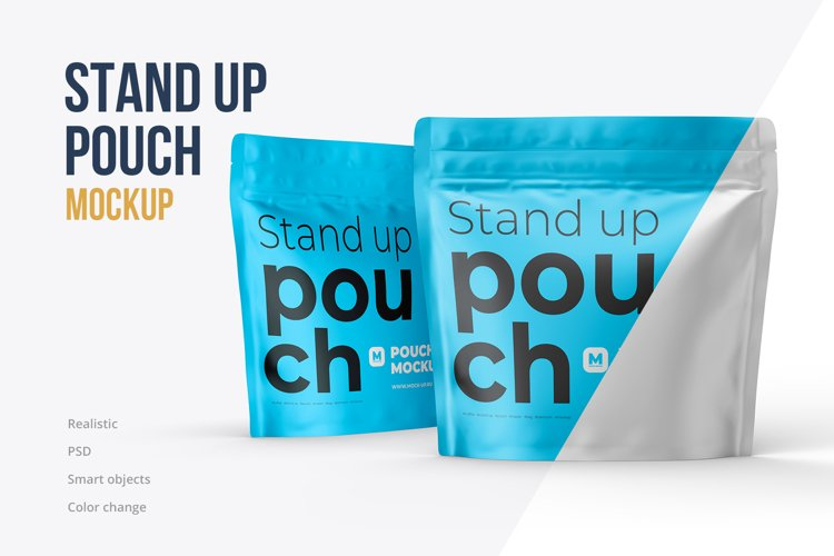 Zip Stand-up Pouch Mockup square example image 1