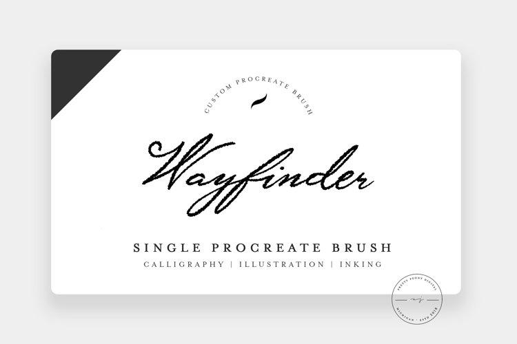 Wayfinder | Single Procreate Brush, Inking Brush example image 1
