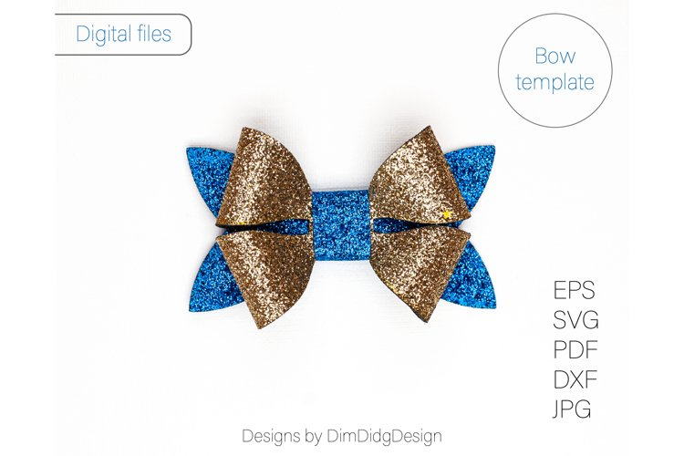 Bow svg Hairbow svg Hair bow template Faux leather bow Svg