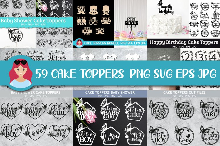 59 Best Sellers Happy Birthday cake toppers SVGs, butterfly