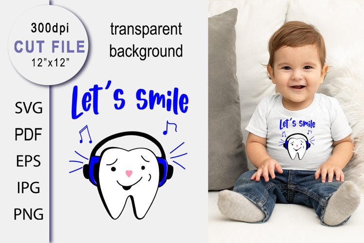 Baby Sublimation SVG. Sayings for tooth fairy. Cute Teeth.