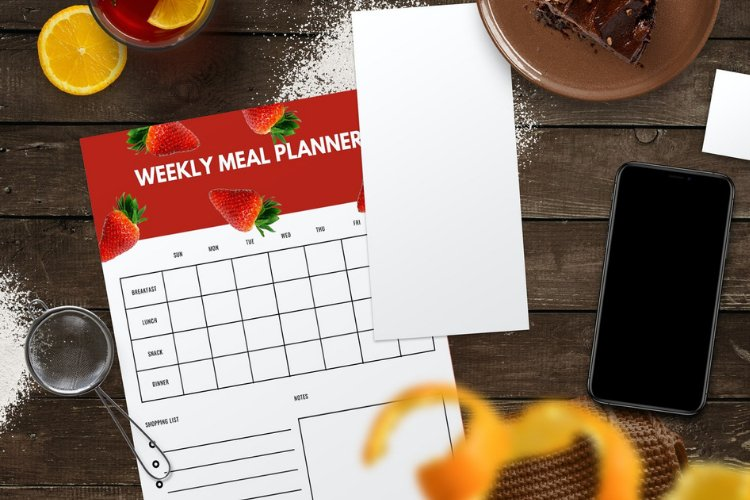 4 Fruit Themed Weekly Meal Planner Canva Templates example 3