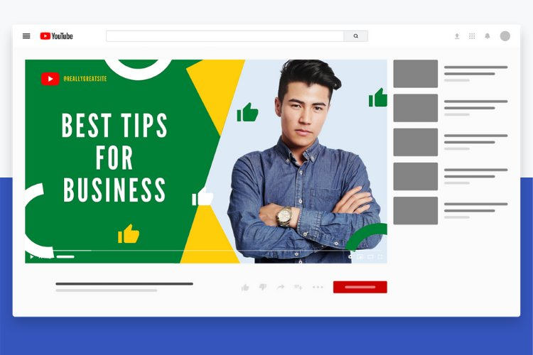 5 Grow Your Business YouTube Thumbnail Canva Templates example 3