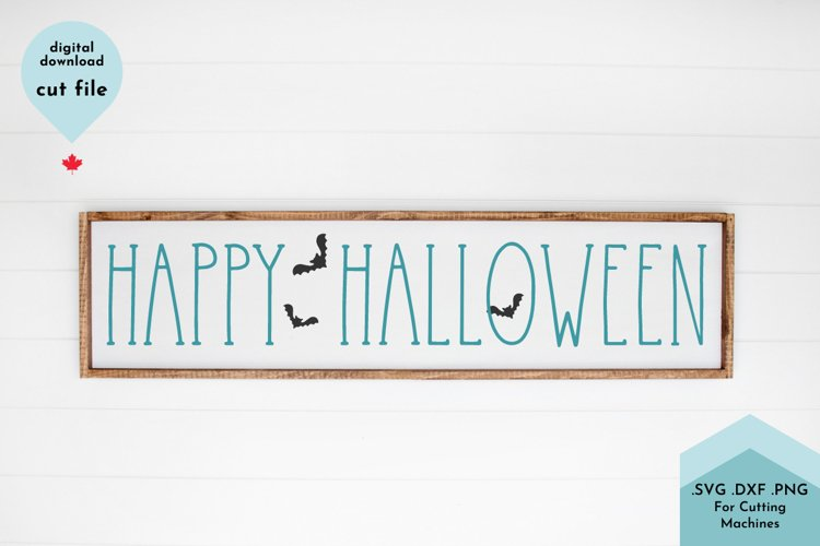 Happy Halloween SVG Cut File Hand Lettered