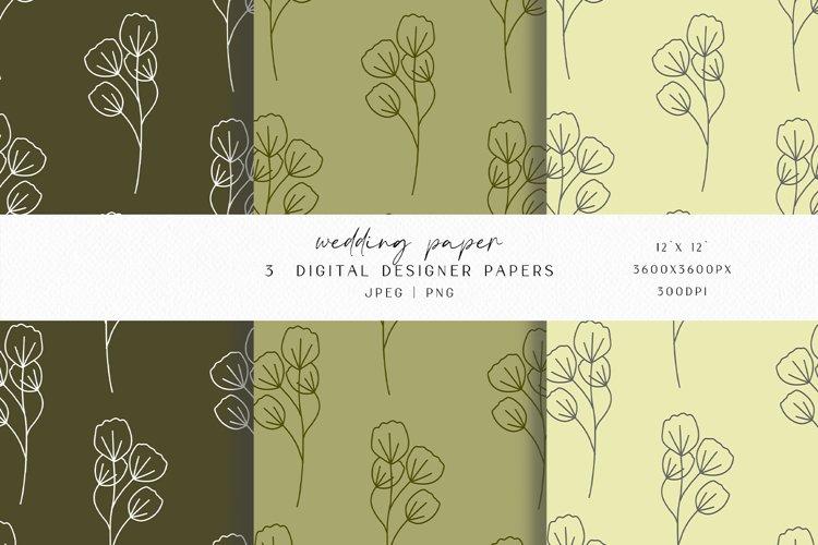 Olive Wedding Digital Paper