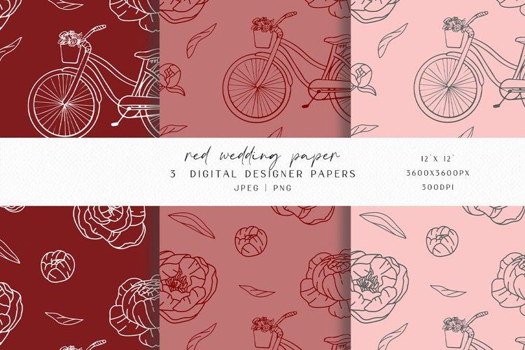 Marsala Wedding Digital Paper