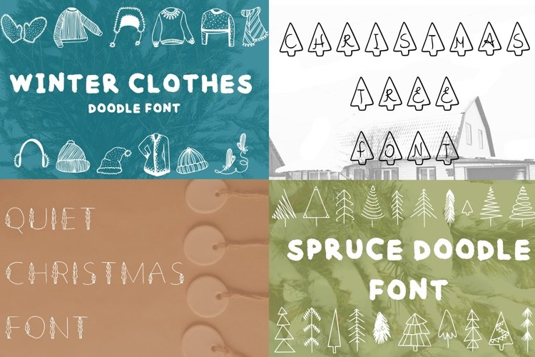 4 new years fonts