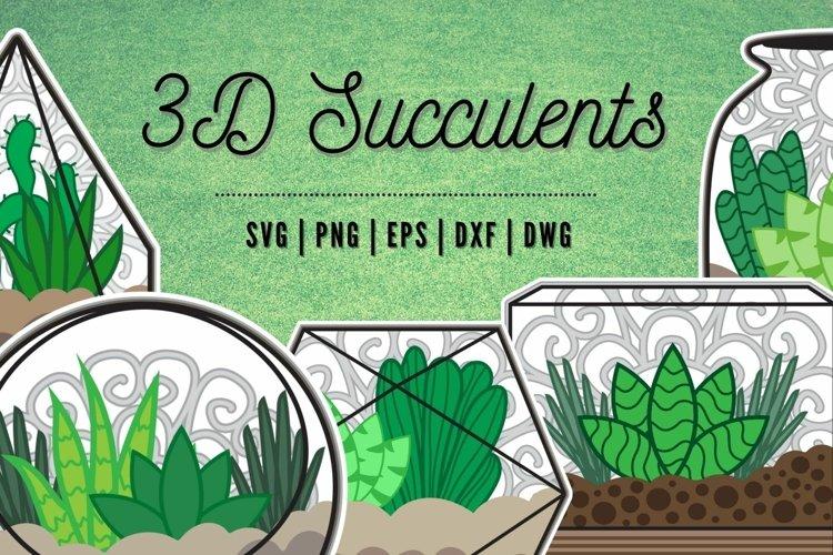 3D Succulents SVG Bundle | Cactus | | Flowers