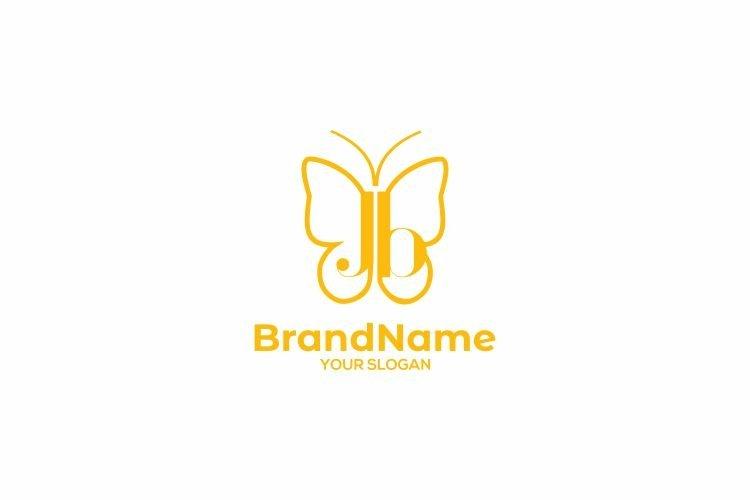 JB Butterfly Logo Design Vector