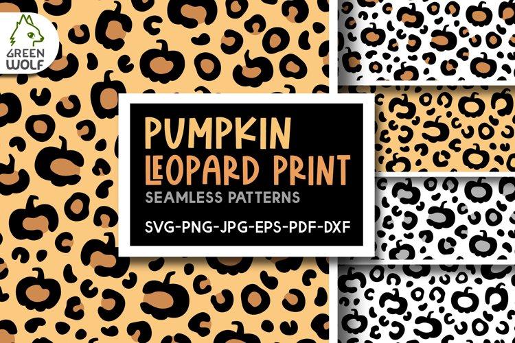 Pumpkin leopard print svg Fall pattern Leopard pattern svg