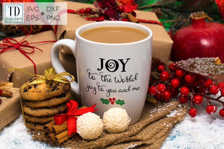 Joy to the World, Joy to You and Me, A Christmas SVG