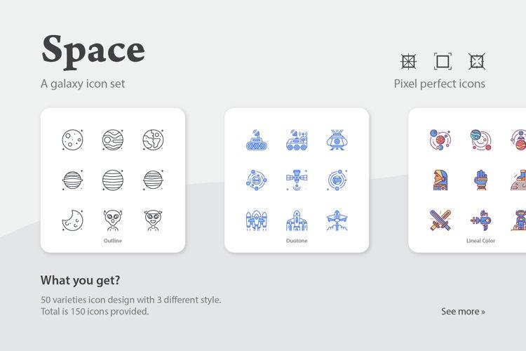 Space Galaxy Icon Set