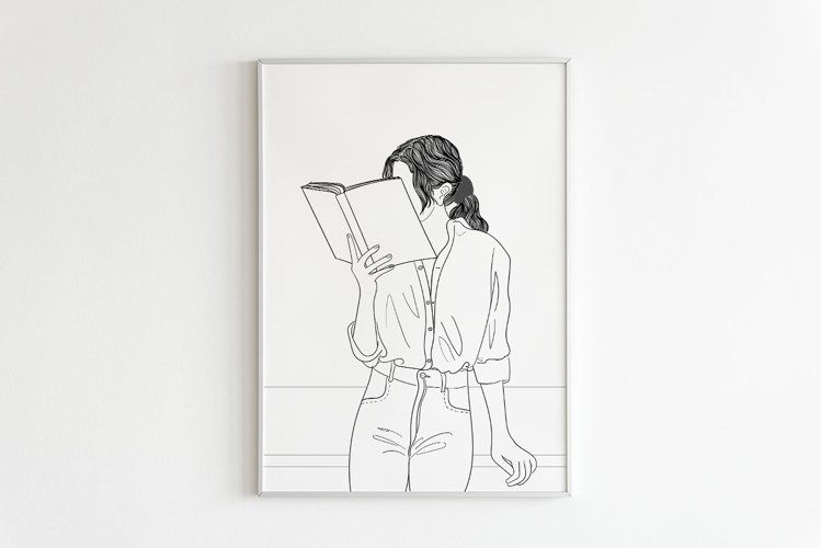 Art Print | Woman Reading Her Favorite Book