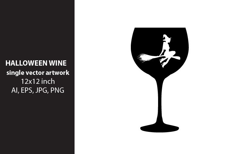 Halloween wine, VECTOR ARTWORK example image 1