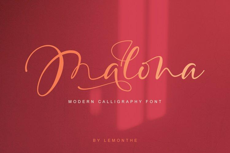 Malona - Modern Calligraphy Font example image 1