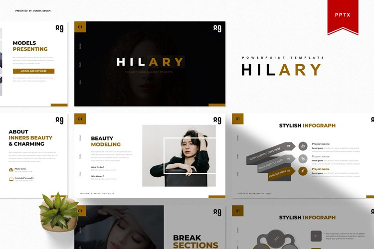 Hilary | Powerpoint Template example image 1