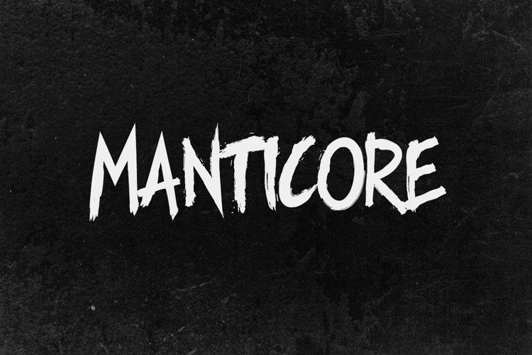 Manticore - Brush Font example image 1
