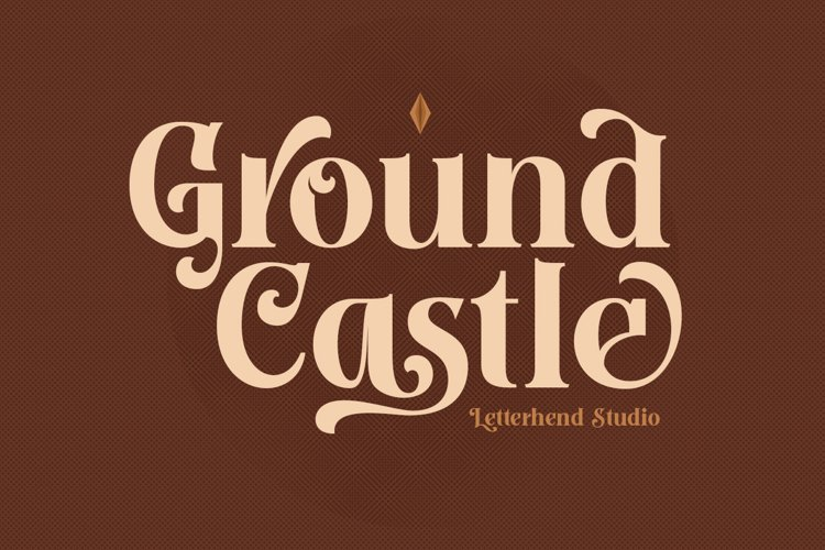 Ground Castle - High Contrast Serif example image 1