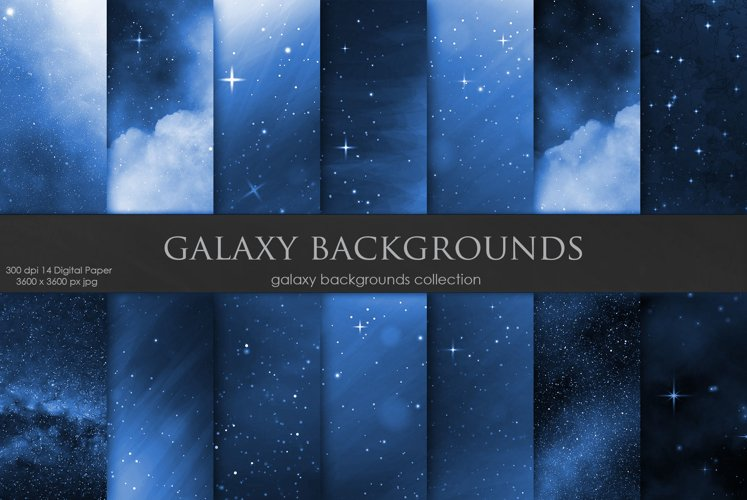 Galaxy Space Backgrounds example image 1