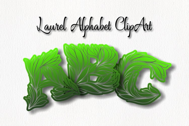 Laurel Alphabet ClipArt example image 1