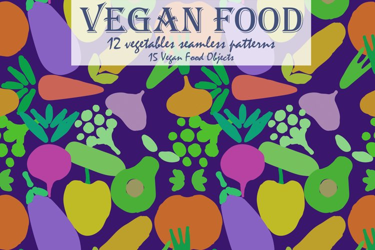 Vegan Food | Patterns and more example image 1
