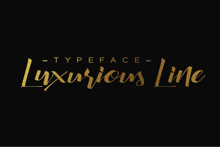 Luxurious Line Typeface example image 1