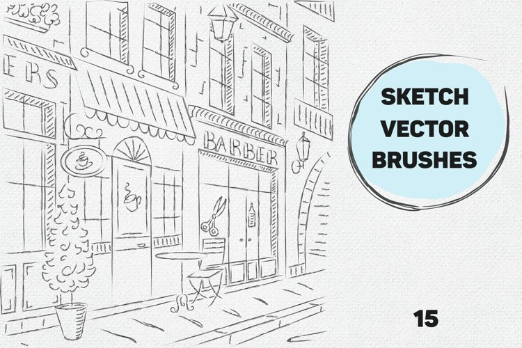 Vector sketch brushes illustrator example image 1