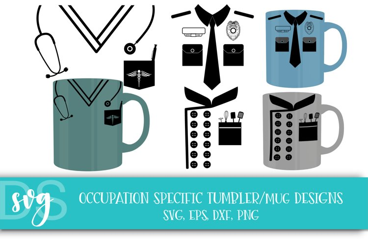 Nurse, Police Officer, Chef, Profession, SVG, EPS, PNG, DXF example image 1