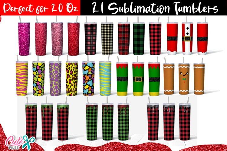 20 oz Tumbler sublimation design Bundle example image 1