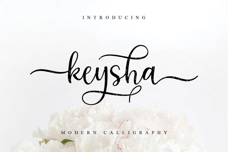 keysha modern calligraphy example image 1