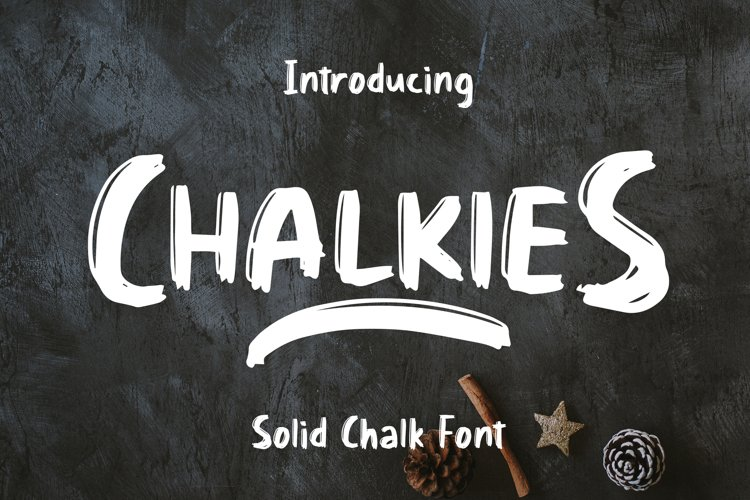 Chalkies - Solid Chalk Font example image 1